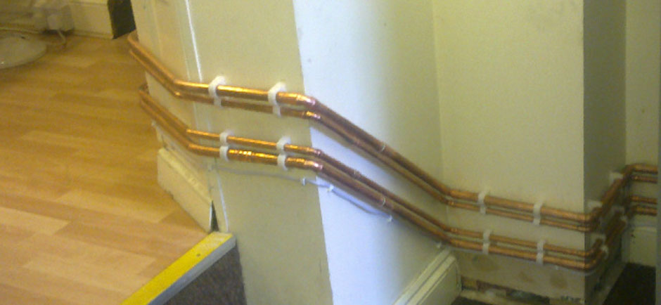 Combination Boiler & Pipework Installation 4 Bed Flat, London.